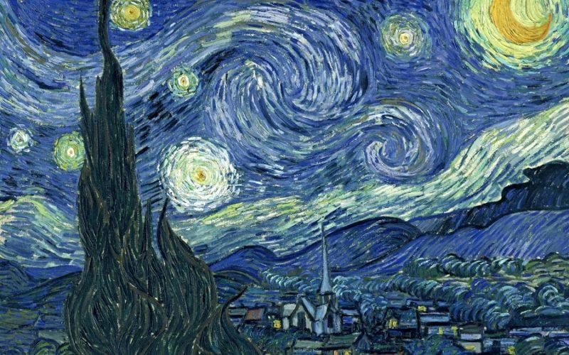 """Noche estrellada sobre Saint Remy"" (Van Gogh)"